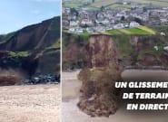 L'effondrement d'une falaise au Pays de Galles aurait pu tourner au