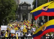 Miles de colombianos protestan en Madrid contra el Gobierno de Iván