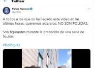 La Policía aclara qué se ve realmente en un vídeo que ha corrido rápido en las últimas