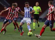 El Atlético vence a la Real Sociedad y se asienta en el liderato de la