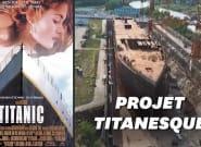 Une réplique du Titanic en construction en