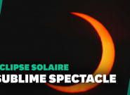 Éclipse solaire partielle: les plus belles images du passage de la