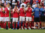 Christian Eriksen, jugador de Dinamarca, se desploma en pleno partido contra
