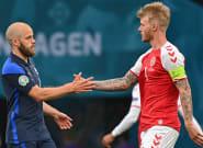 Danemark-Finlande: défaite des Danois après le malaise