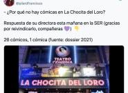 Indignación entre las cómicas españolas por las declaraciones de la programadora de una
