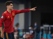 Multitud de comentarios por lo que ha hecho Morata tras marcar gol ante