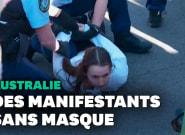 Contre le confinement, des milliers d'Australiens manifestent à