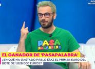 Pablo Díaz reaparece en televisión y revela lo primero que compró tras ganar el bote en