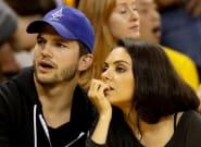 Mila Kunis y Ashton Kutcher sólo bañan a sus hijos cuando los ven