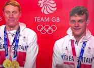 Olympic Swimmers Tom Dean And Matthew Richards Struggle To Keep It Together Over Clare Balding's 'Third Leg'