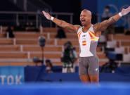 El gimnasta español Ray Zapata, medalla de plata en la final de