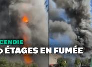 À Milan, les images de l'incendie qui a détruit une tour de 20