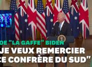 Sous-marins: Biden oublie le nom du Premier ministre d'Australie au moment de le