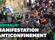 En Australie, une manifestation contre le confinement