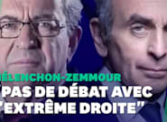 Le débat entre Éric Zemmour et Jean-Luc Mélenchon crispe la