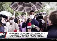 La reacción de Almeida cuando un reportero le pone un paraguas que no es suyo: ojo a la