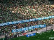 Saint-Etienne-Nice: les tribunes de l'ASSE rendent hommage au supporter de l'OM