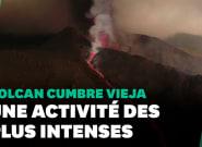 Le volcan de la Palma entre dans une phase explosive extrême, les images de la gigantesque coulée de