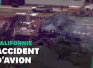 À San Diego en Californie, un avion s'écrase sur des maisons, au moins 2