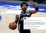 NBA: Kyrie Irving, non vacciné, devient la coqueluche des