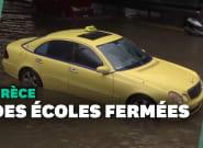 La Grèce touchée par d'importantes inondations, les écoles fermées à