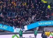 Aux Pays-Bas, une tribune du stade de Nimègue