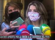 El grito imprevisto cuando atendía a los periodistas que ha dejado a Yolanda Díaz con esa
