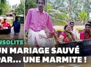Lors des inondations en Inde, ils vont à leur mariage en
