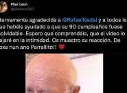 Rafa Nadal le envía un vídeo por su 90 cumpleaños y su reacción emociona a todo