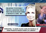 Jaime Peñafiel no se puede contener y reacciona así al oír este comentario sobre Juan Carlos
