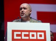 El momentazo de Unai Sordo, líder de CCOO, sobre el escenario: