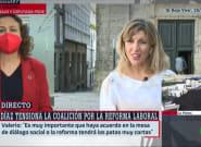 Yolanda Díaz habla de Magdalena Valerio, la llama