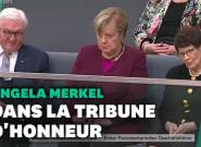 Merkel assiste en tribunes à la séance de rentrée du