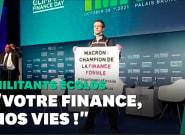 Au Climate Finance Day, des militants écolos face à Bruno Le