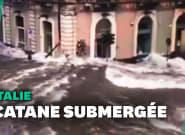 La Sicile touchée par des inondations: les images de Catane sous