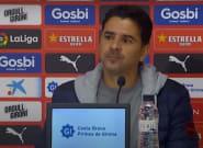 Al entrenador madrileño del Girona le hacen una pregunta en catalán y su reacción hay que