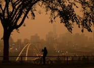Smoke From B.C. Wildfires Paints Edmonton Skies