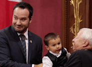 Quebec Family Minister Upstaged By His Kids At