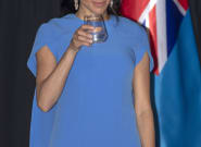Meghan Markle Stuns In A Fijian Blue Gown At 1st State