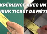 Ce ticket de métro qui a 35 ans marche-t-il encore? On a