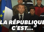 Macron fait-il référence à Mélenchon dans son discours à