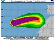 El huracán 'Leslie' se acerca a la Península por Andalucía y