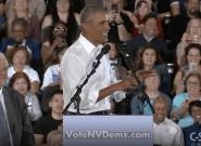 En meeting, Barack Obama tacle Donald Trump sur les