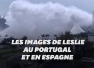 L'ouragan Leslie se dirige vers la France après être passé par le Portugal et