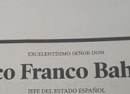 Esta es la esquela más loca de Franco: la ha publicado un periódico