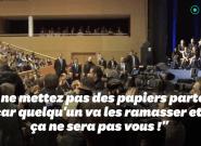 Macron à un étudiant qui l'interpelle en Belgique: