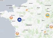 Gilets jaunes: la carte des manifestations qui
