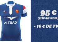 Le maillot de l'équipe de France de rugby est