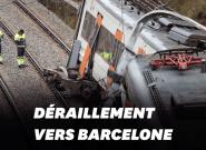 À Vacarisses près de Barcelone, un glissement de terrain fait dérailler un