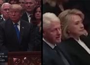 Quand Donald Trump et Hillary Clinton se croisent, c'est